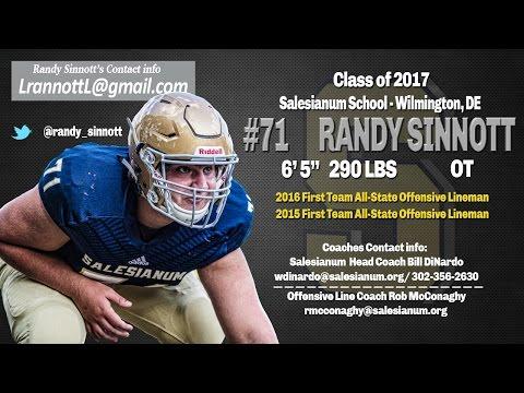 Randy Sinnott 2016 Highlight film, Salesianum School