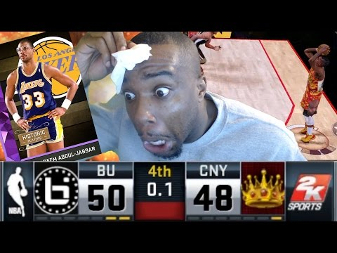 LAST SECOND DOWN BY 2 OPEN FOR 3 POINTER! Kareem Abdul-Jabbar Debut! NBA 2k16 MyTeam Gameplay