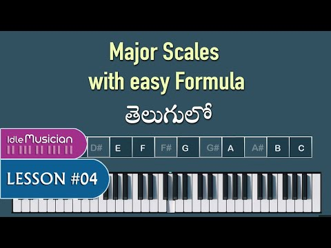 All Major Scales on Keyboard | Lesson 4 | Telugu