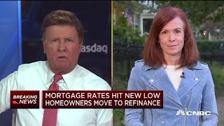 Mortgage rates hit new low as homeowners move to refinance