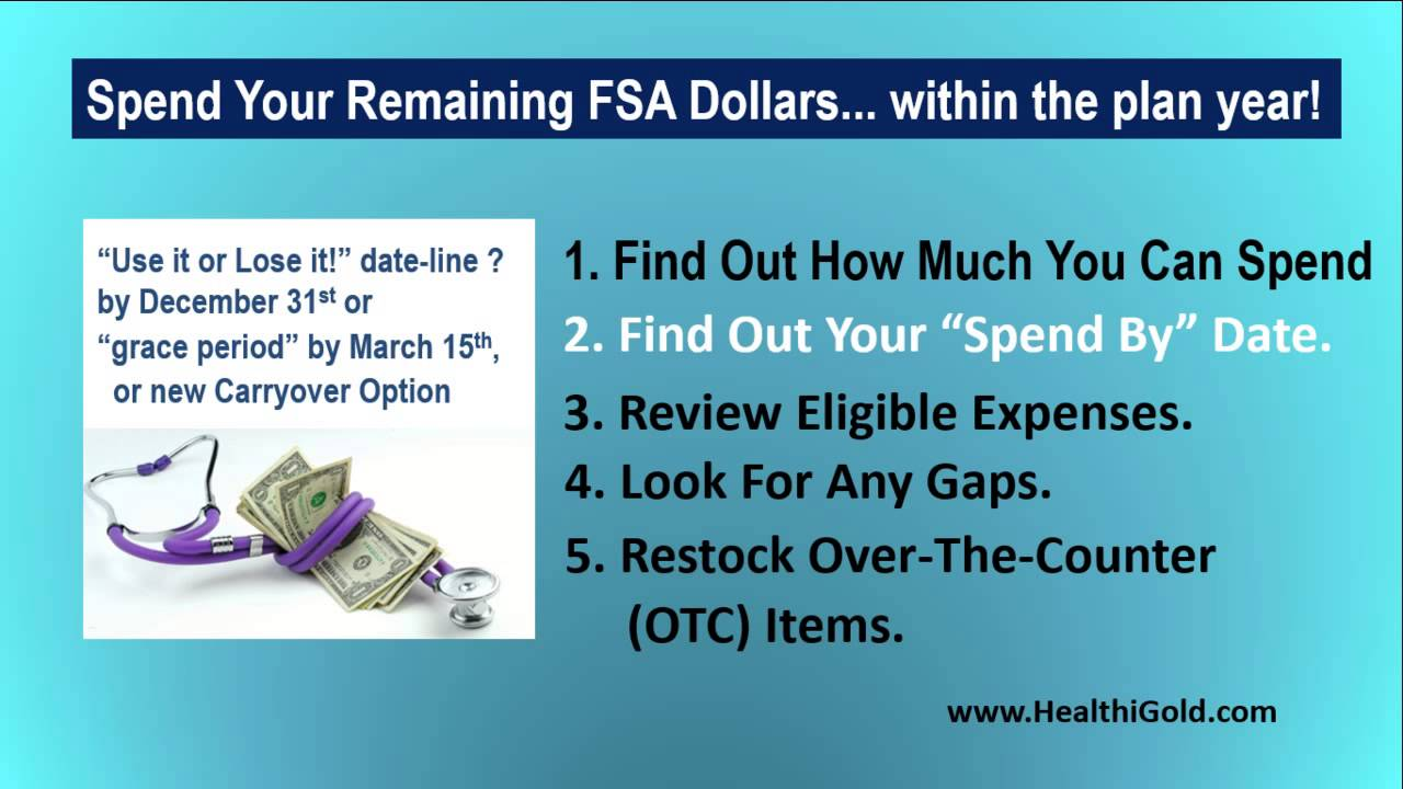 Tips on Spending Your FSA Funds | FSA Eligible Items