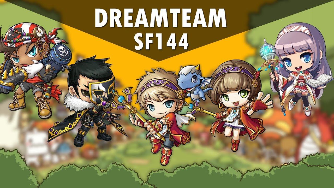 Maplestory M - SF144 Dream Team - My Godchila Army