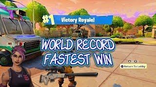 Fortnite br fastest win ever 30 kills no hack