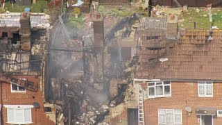video: Ashford house explosion: Suspected gas blast injures seven in Kent