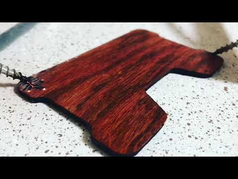 Making a wood minimalist wallet with lichtenberg figures