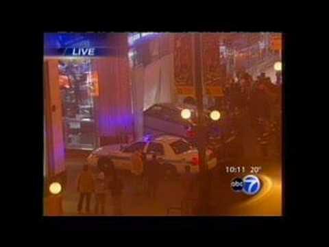 WLS-TV Studio Car Crash