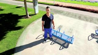 Aspire Outdoor Gym Training Series - Bench Dip Station