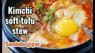 Kimchi Soondubu Jjigae (순두부 찌개) - Soft tofu stew