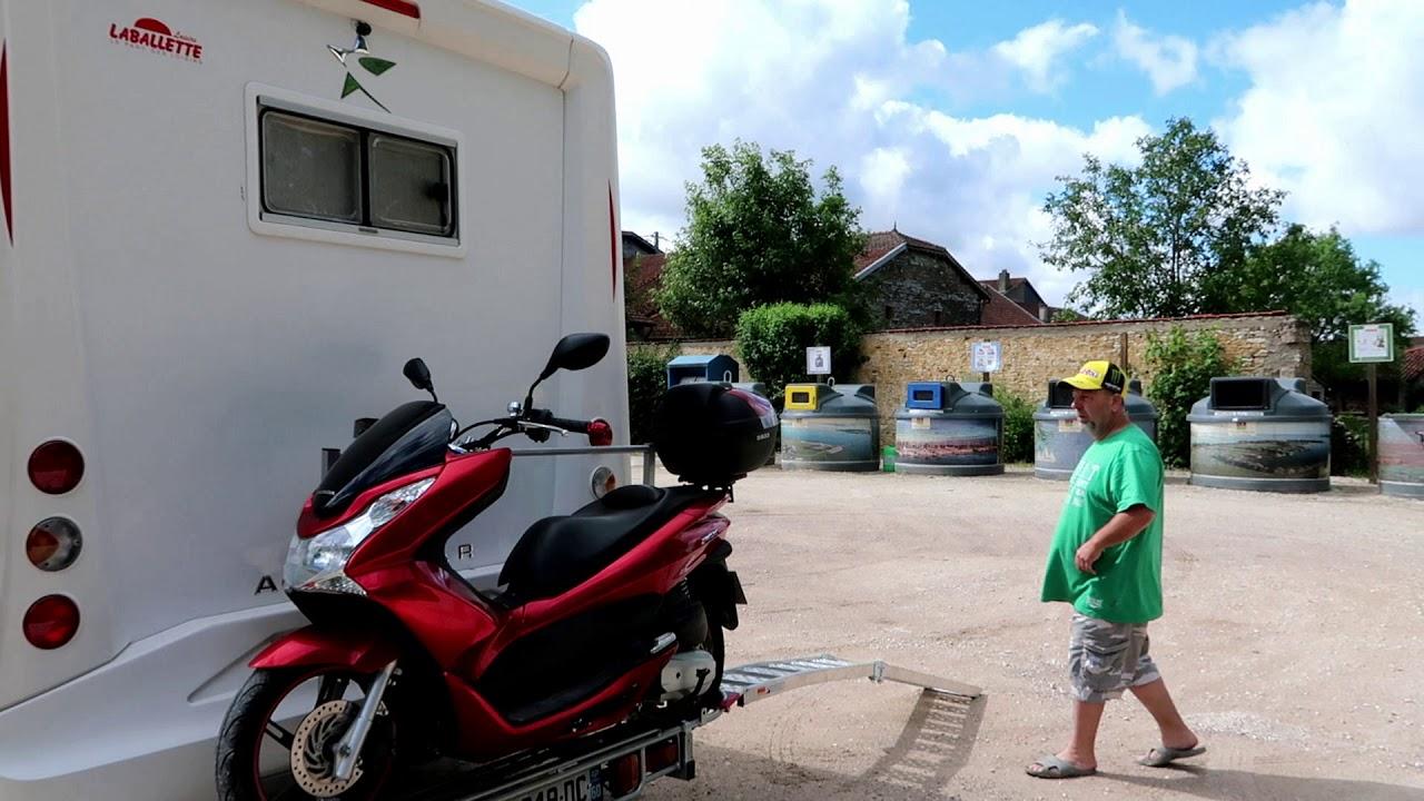 porte moto camping car et poire de douche youtube
