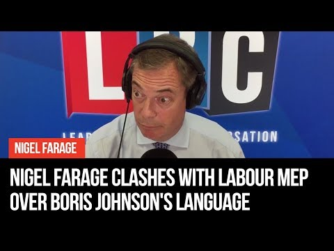 Nigel Farage Clashes With Labour MEP Over Johnson's Language