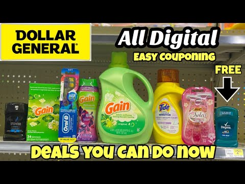 Dollar General | All Digital Coupon Deals You Can Do Now | Cheap Gain & Money Maker Deodorant 🙌🏽