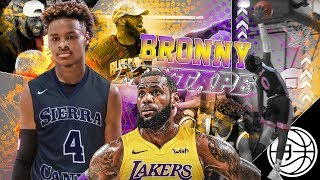 "FUTURE LAKER LeBron James Jr! Bronny ""Taking My Talents to LA"" OFFICIAL MIXTAPE!"