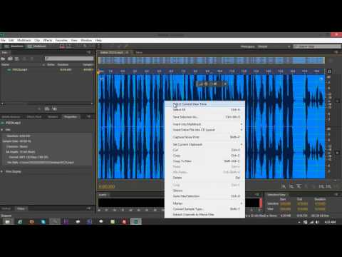 Convert MP3 to WAV Using Adobe Audition CS6