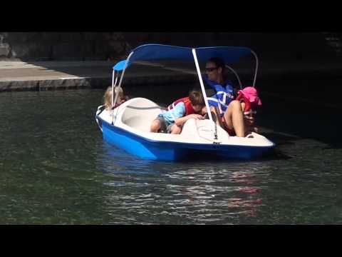 Dave, Oliver, Adair, and Alice in paddle boat 2