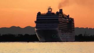 MSC MUSICA 09/10/2011 tramonto sulla laguna  10°