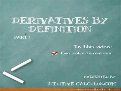 Derivatives by Definition