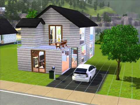 Como hacer una casa peque a los sims 3 youtube for Casas modernas sims 4 paso a paso