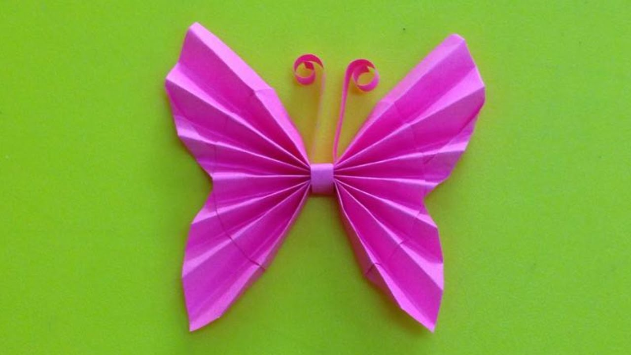 How to make a paper butterfly easy origami butterflies for Butterflies for crafts and decoration