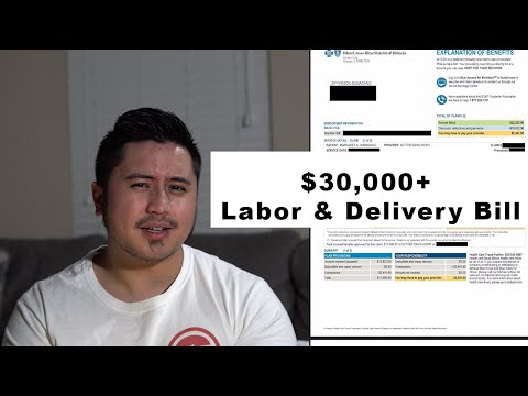 True Itemized Cost of Labor and Delivery Bill - CA edition