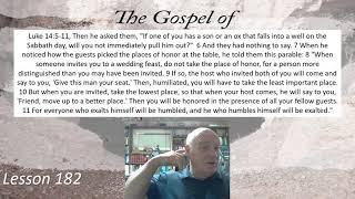 Luke 14:5-11 Lesson 182  September 14, 2021