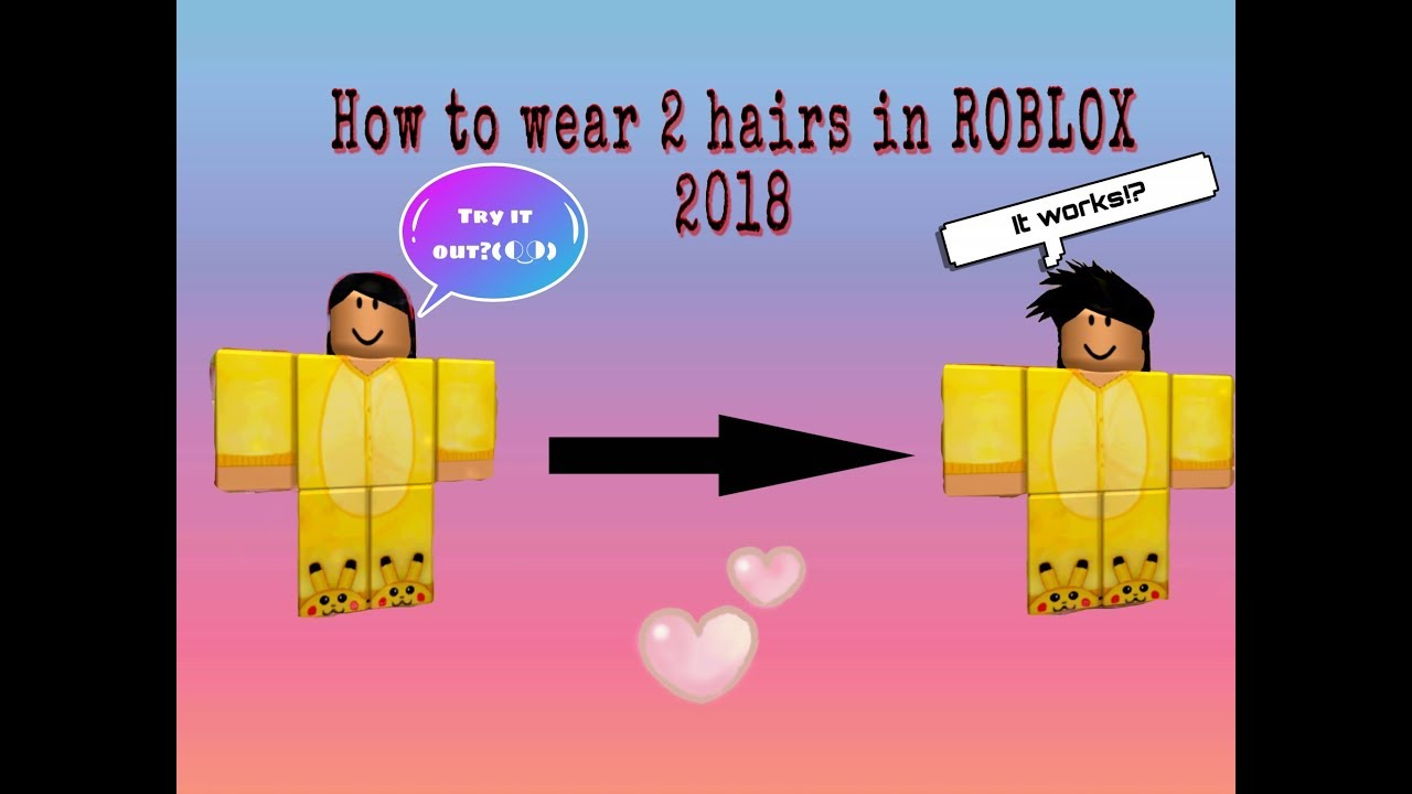 How To Wear Two Hair S In Roblox Works On Mobile And Ipad