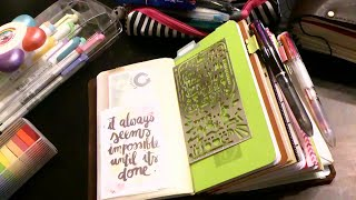 2016 planners and stuff my new speckled fawns a6 travele s notebook