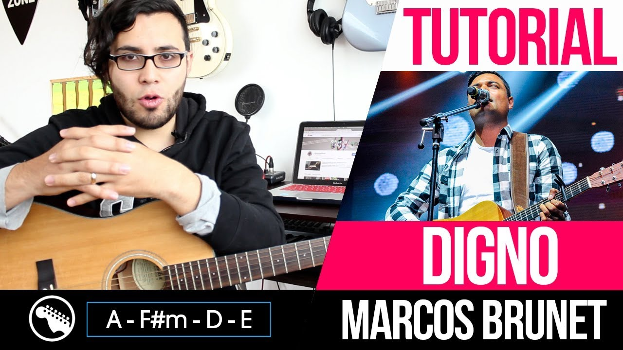 TUTORIAL | Digno - Marcos brunet | Intro | Acordes | Solo - YouTube