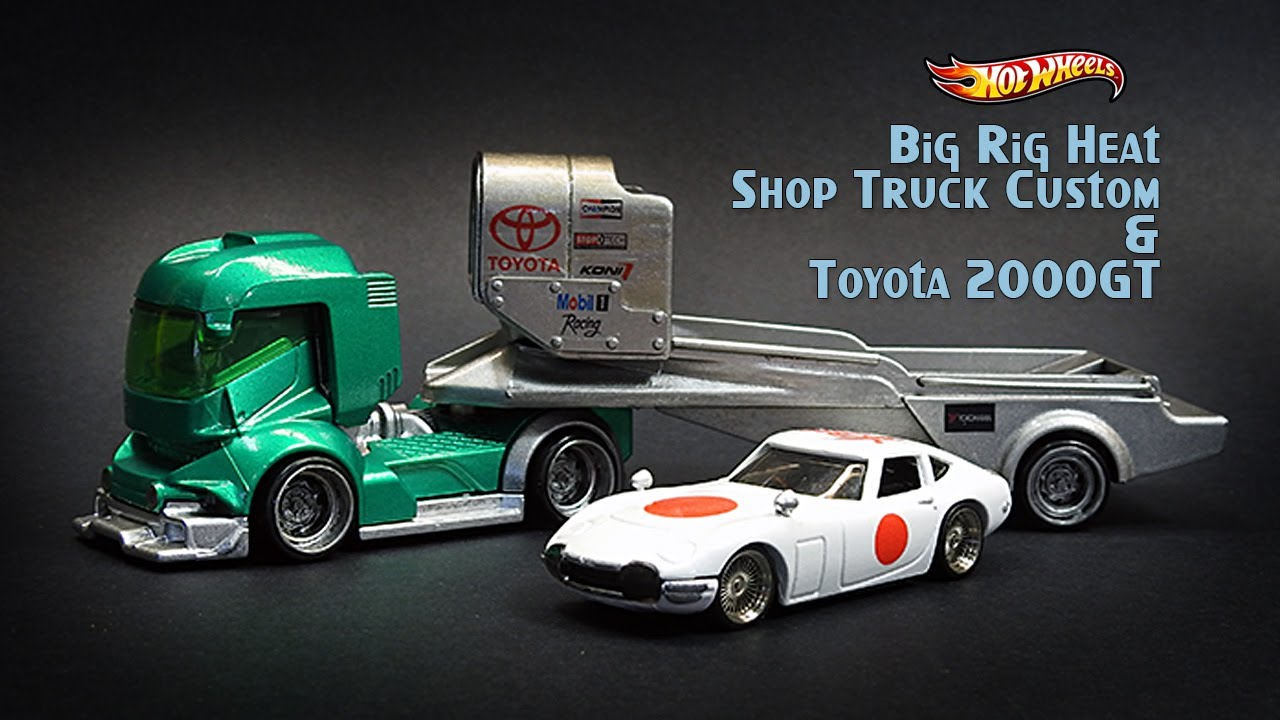Hot Wheels Shop Truck Custom Big Rig Heat & Toyota 2000GT 2020 Super Rigs