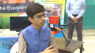 16 year old boy develops drone which can destroy landmines without human risk