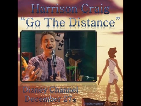 "Harrison Craig : interview & live performance of ""Go The Distance"" on Disney Channel"
