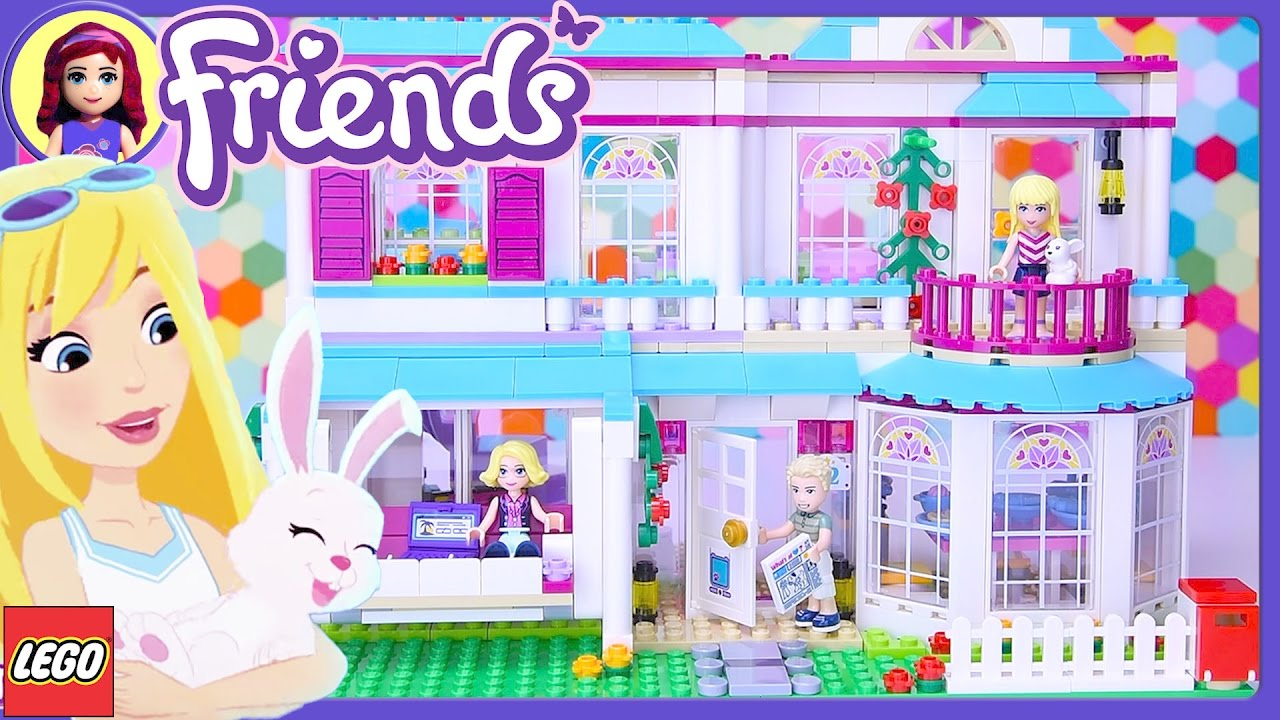 10fbf51d3ce Lego Friends Stephanie's House Build Setup Review - Kids Toys - YouTube
