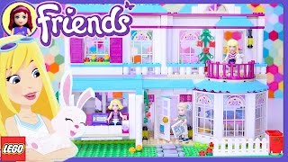 Lego Friends Stephanie's House Build Setup Review - Kids Toys