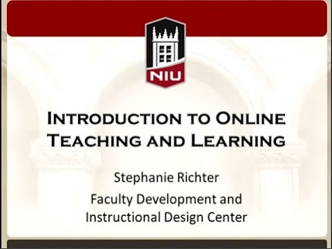 Introduction to Online Teaching and Learning