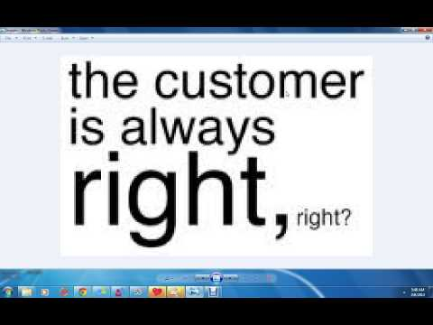 customer is always rights