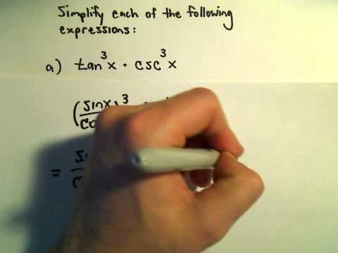 Simplifying Trigonometric Expressions Using Identities, Example 1
