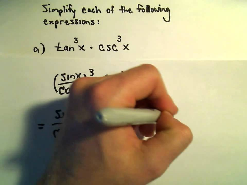 Simplifying Trigonometric Expressions Using Identities Example 1
