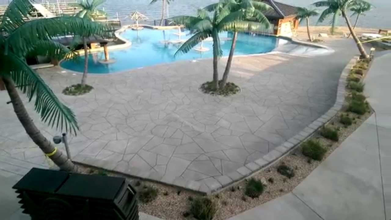 Incroyable Decorative Concrete Resurfacing Pool Deck Lake Of The Ozarks Gravois Mill  MO   YouTube