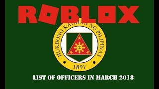 ROBLOX Philippine Army - List of Officers in March [OFFICIAL]