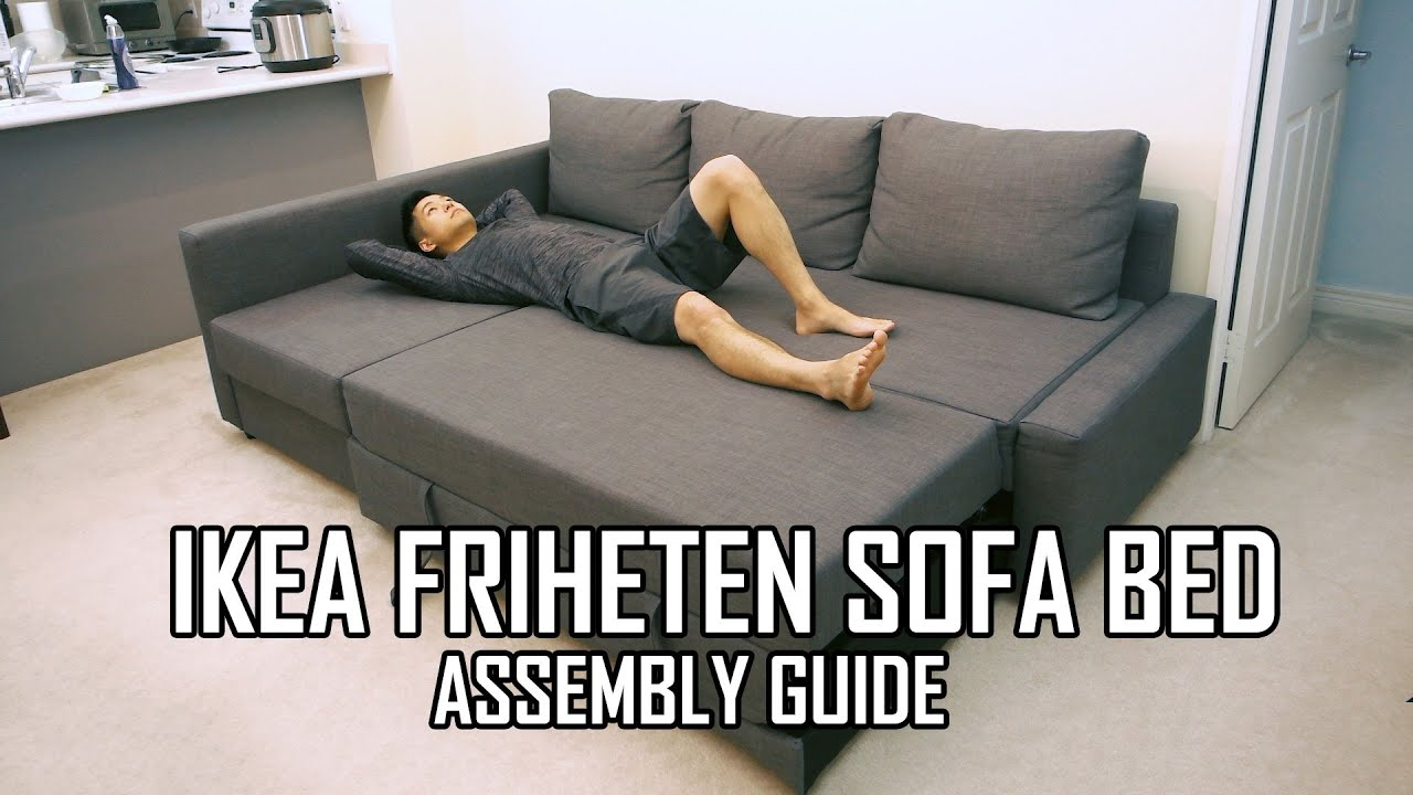 Ikea schlafcouch friheten  IKEA FRIHETEN Sofa Bed Assembly Guide - YouTube