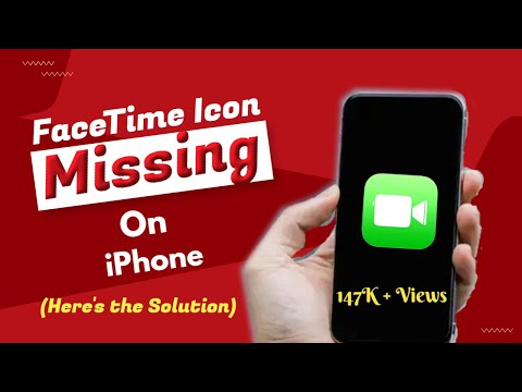 FaceTime icon missing on iPhone? Here's the Solution