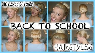 4 Heatless Back to School Hairstyles! Thumbnail