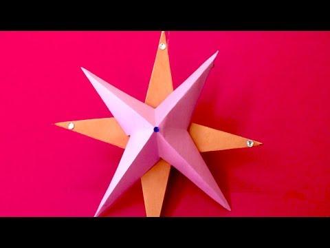 DIY Christmas Star - How To Make Christmas Star | 3D Paper Star | DIY STAR Christmas Tree Topper