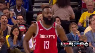 James Harden Nails a Deep 3-Pointer - Game 6 | Rockets vs Warriors | 2018 NBA West Finals