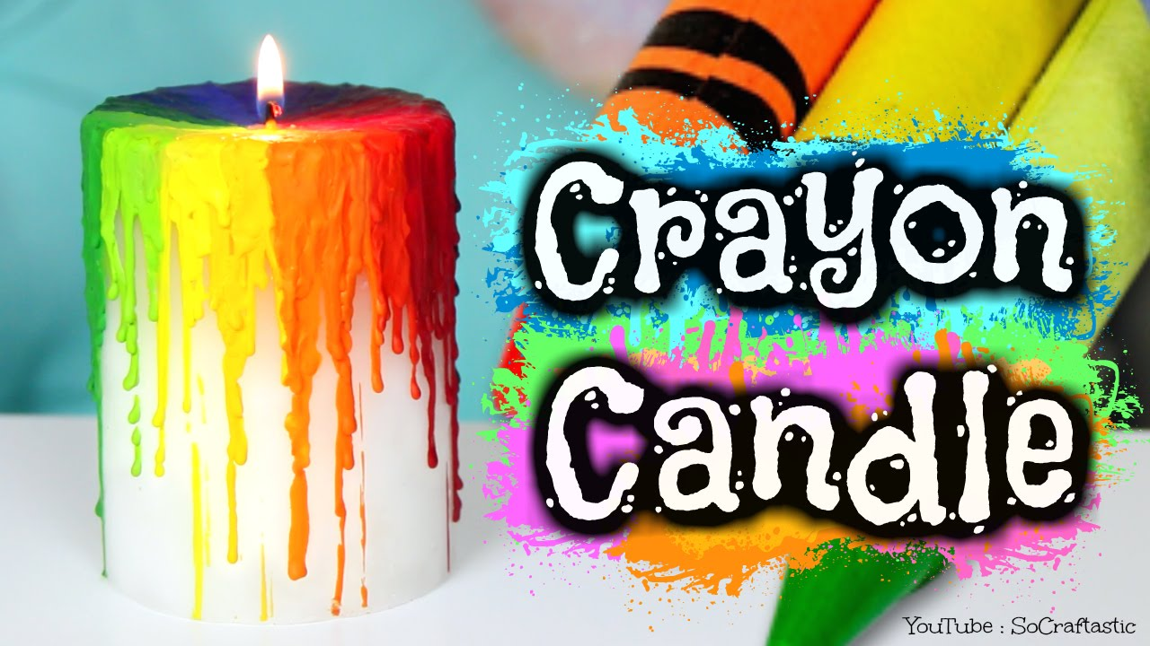 Diy Candles Diy Crayon Drip Candle Melting Crayons How To Rainbow Melt