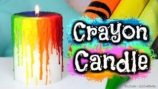 Diy Crayon Drip Candle