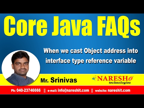 When we cast Object address into interface type reference variable? | Core Java FAQs Videos