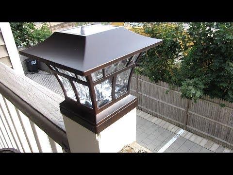 Solar LED Deck Post Cap Light By Hampton Bay | Bronze Deck Lamp Review
