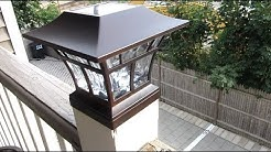 Solar LED Deck Post Cap Light by Hampton Bay | Bronze Deck Lamp Review