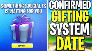 GIFTING SYSTEM CONFIRMED RELEASE DATE! GIFT Any Skin You want From ITEM SHOP - Fortnite GIFTING!