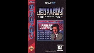Sega Genesis Jeopardy! Deluxe Edition ORIGINAL RUN Game #2